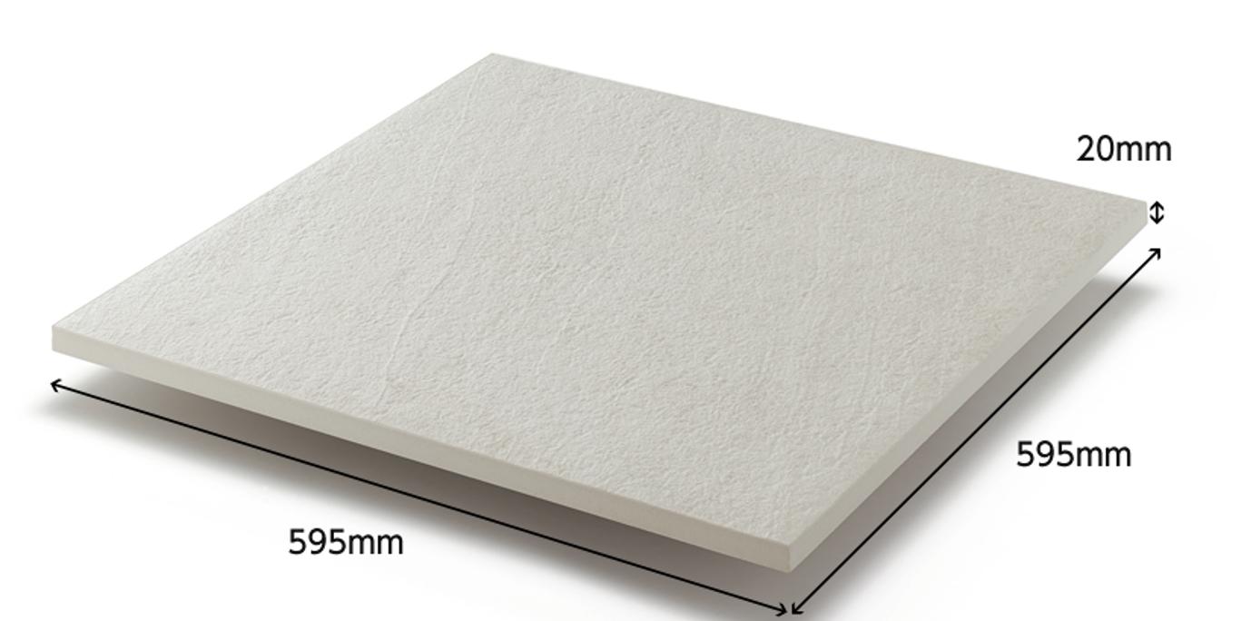素材 大判で丈夫なタイルが空間をもたらす新しい体感。 600角のタイルが広々とした開放感を与えます。 600角の上質な大判タイルを採用することで、空間全体にゆとりある広々とした印象を与えてくれます。 厚さ20mmのタフさが安心感をもたらします。 ・厚さ20mmで1800N/㎡の荷重にも耐える安心強度 ・雨の日も滑りにくい素材 ・ブラシで簡単にお掃除可能 ・耐磨耗性に優れた傷つきにくいタイル
