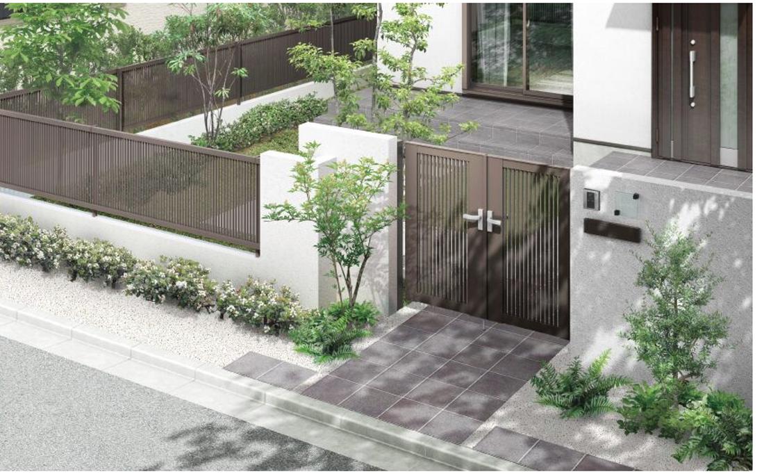 ●ライシス門扉:デザイン ボリューム感のある従来のデザインを継承しながら、より洗練された印象へ!
