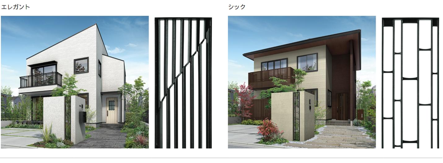 お好みの住宅テイストに合わせて、外構のアクセントとなるコーディネイトが可能です。 エレガント シック